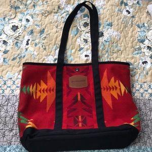 Pendleton wool tote southwestern aztec design red